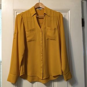 Mustard Yellow Blouse